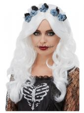 Day Of The Dead Wig in White